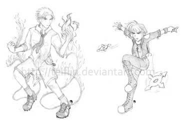 D Action Poses by Teiflin