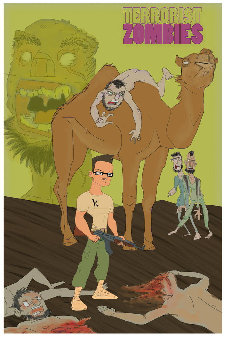 Camel Riding Zombie Terrorists by bailey-is-a-robot