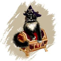 Pirate cat by purpurpurr