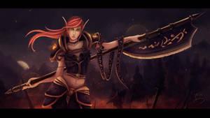 Bloodelf Paladin by LoreCoffee