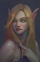 Blood Elf // warm up by LoreCoffee