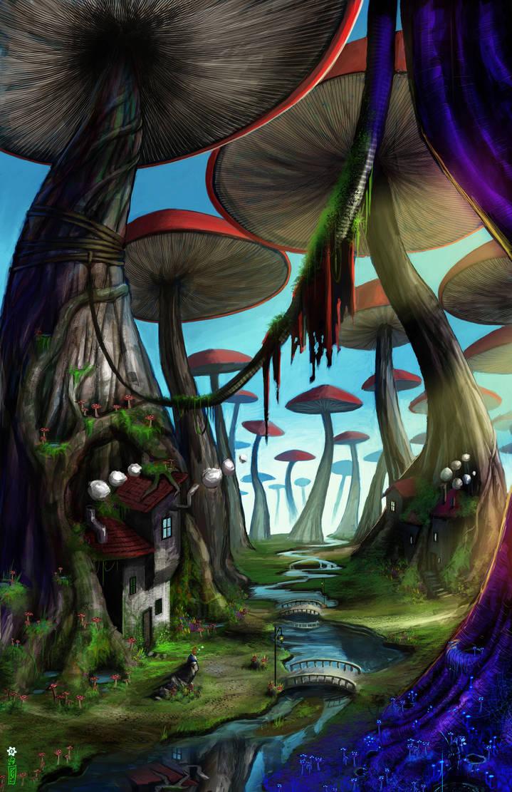mushroom forest by dinmoney