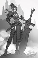 Faulty Apprentice: Sword Instructor sketch by dinmoney