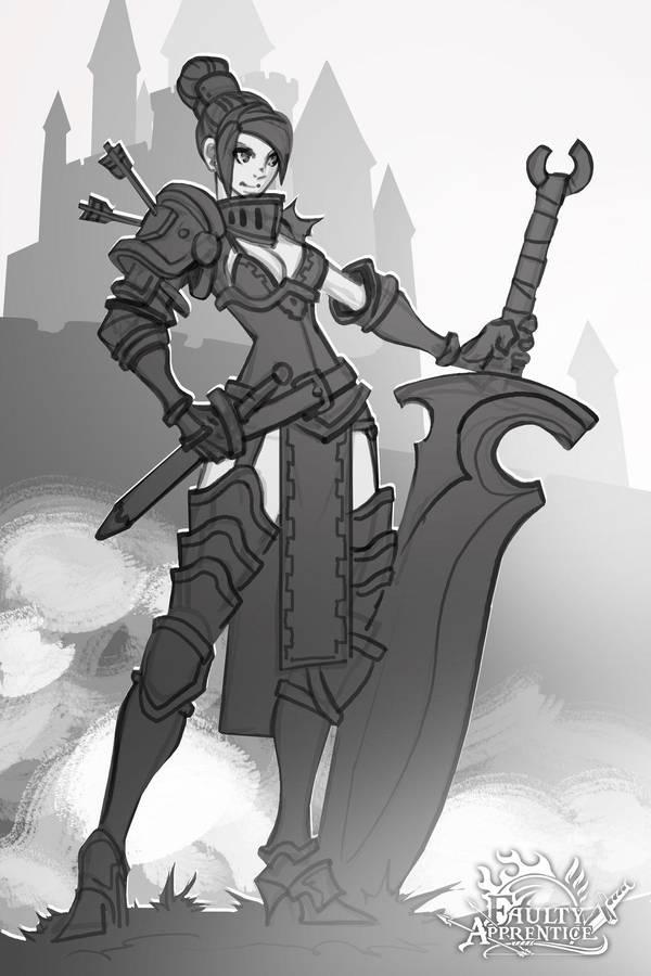 Faulty Apprentice: Sword Instructor sketch by dinmoney