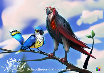 Schrodinger and Capernicus by dinmoney