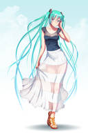 Hatsune Miku casual by jerry04