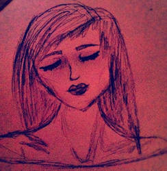 untitled drawing of a girl by ToSeeAButterfly