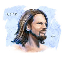WWE AJ Styles by baguettepang