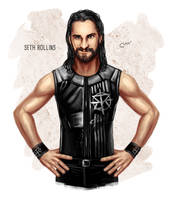 WWE Seth Rollins by baguettepang