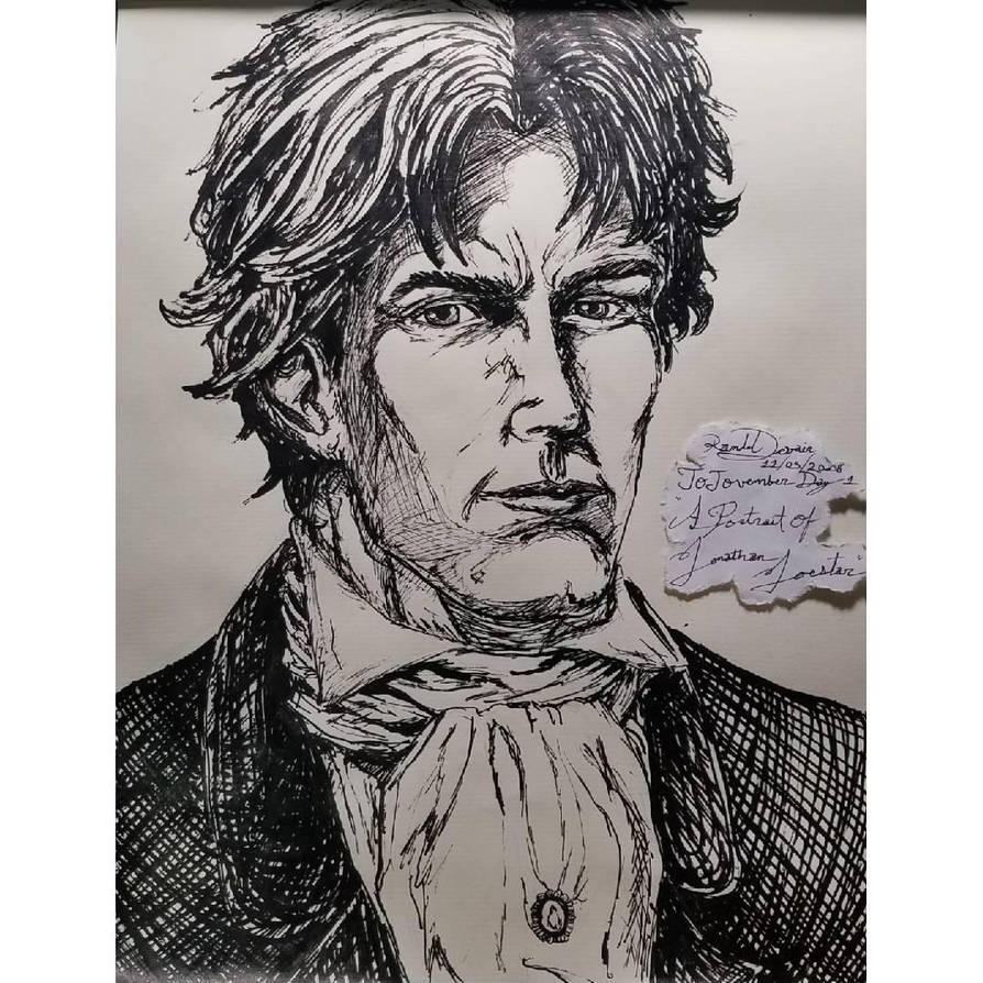 JoJovember: A Portrait of Jonathan Joestar by VK6