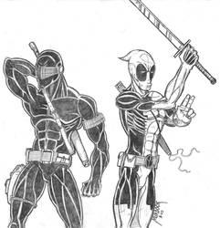 Snake Eyes, Dead Pool Team Up by Demongrinder