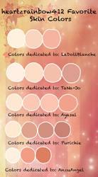 heartzrainbow412 Favorite Colors by heartzrainbow412