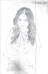 Elle Winters Drawing by heartzrainbow412