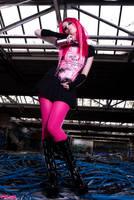 Miss Neon Pink II by SaphirNoir