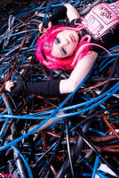 Miss Neon Pink I by SaphirNoir