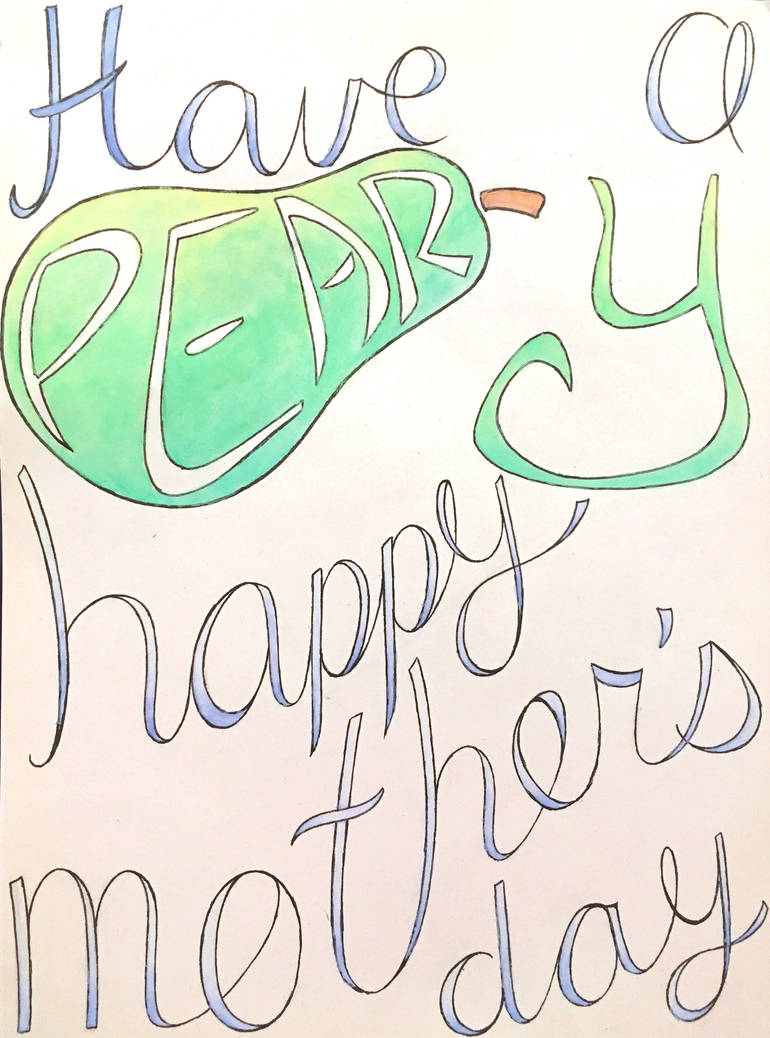A Pear-y Happy Mother's Day by DoodleByte