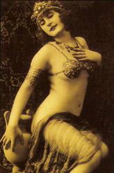 1920s Flapper Woman Model by Enchantedgal-Stock