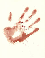 Bloody Hand Print Stock by Enchantedgal-Stock