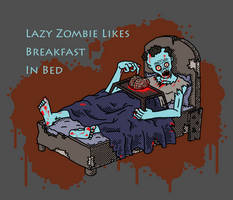 Breakfast in Bed Zombie by Vorgus