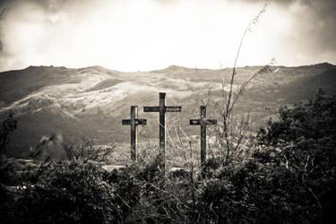 Old Wooden Cross by DarkOceanDream