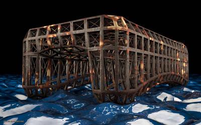 Funky Old Rusted Bridge by gonzalu