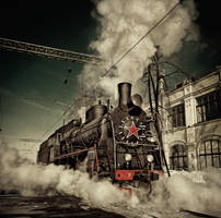 arrival of the train by fly10