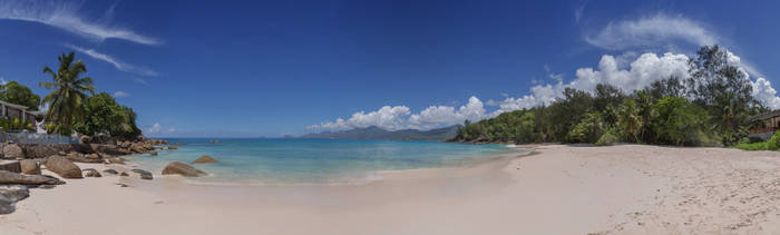 Panorama beautiful view of Seychelles by fly10