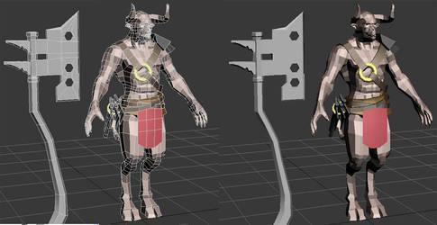 Faun 3D untextured by daz-01