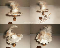 Miniature Hat with Feather by RevelloDrive1630