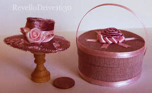 Miniature Hat and Hatbox by RevelloDrive1630
