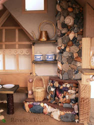 A fireplace  in a fairy dollhouse by RevelloDrive1630