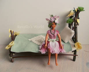 Fairy bed 1:12 scale by RevelloDrive1630