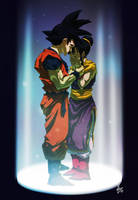 Goku and Chichi - COMMISSION by Yaguete