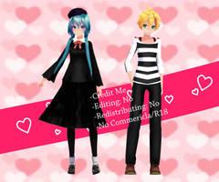 [MMD] TDA Renai Saiban/Love Trial Miku and Len DL by ZKArti