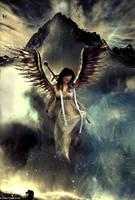 Descent of the Archangel by screamingdigital