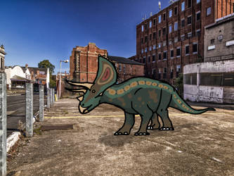 Triceratops's car park by Covelloraptor