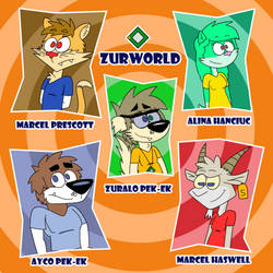 ZurWorld characters by Scanisma
