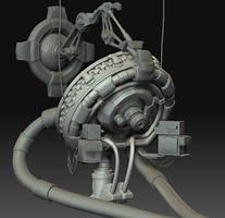 Futuristic Laboratory - WIP by beere