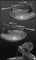 Sniper Rifle High Poly by beere