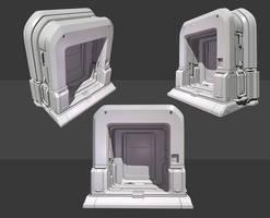Quake 4 Inspired Door Highpoly by beere