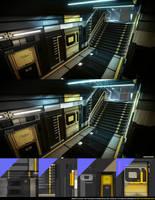 Deus Ex: HR Corridor by beere