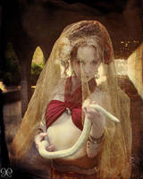 Antique Circus Snake Charmer by CynCaelyx