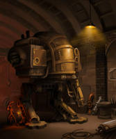 steampunk mecha by ZackF