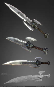 Somewhat Impractical Sword 3D by ZackF