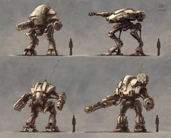 Four Mechs by ZackF