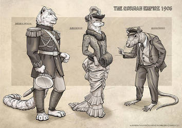 Russian Empire Characters by AncientKing