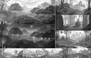Villages sketches - 2 by AncientKing