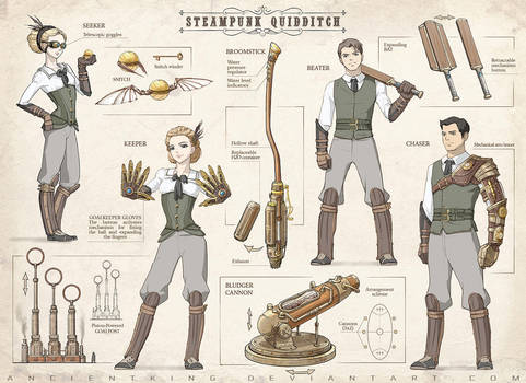Steampunk Quidditch by AncientKing