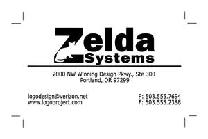 Zelda Systems Business Card by Mechanismatic