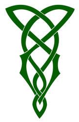 Green Celtic Knot by Mechanismatic